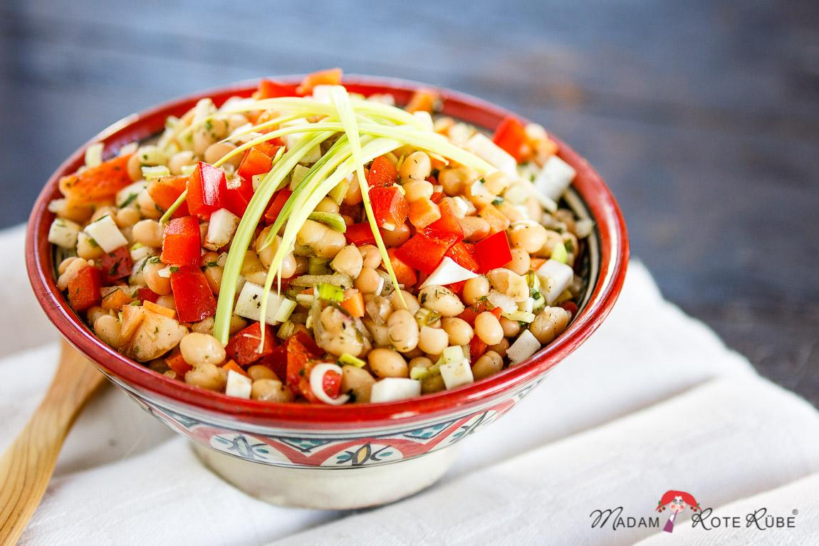 """Madam Rote Rübe - Ein köstlicher Sattmacher: Weiße-Bohnen-Salat """"Bunte Vielfalt"""""""