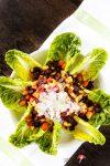 Wurzelgemüse-Salat aus der Backröhre mit Knoblauchsauce
