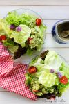 Blattsalate mit Kartoffel-Kräuter-Vinaigrette – mein neuer Lieblingssalat