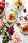 Süße Erdbeeren & Sahne treffen auf flotten Polentapudding