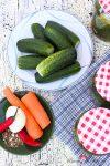 Einkochzeit – knackfrische Gewürz-Gurken im Essigsud