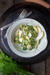 Betörend leichte Kost: Graupenrisotto mit Mangold und Birne