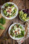Herbst, bunte Blätter, dann bitte auch Käse-Trauben-Salat