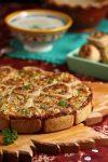 Herzhafte Zwiebel-Käse-Schneckennudeln – Wer hat´s erfunden? Jawohl, die Pfälzer.
