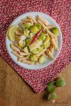 Scharfe Pasta mit Rosenkohl & Parmesan – ein Spiel mit den Aromen