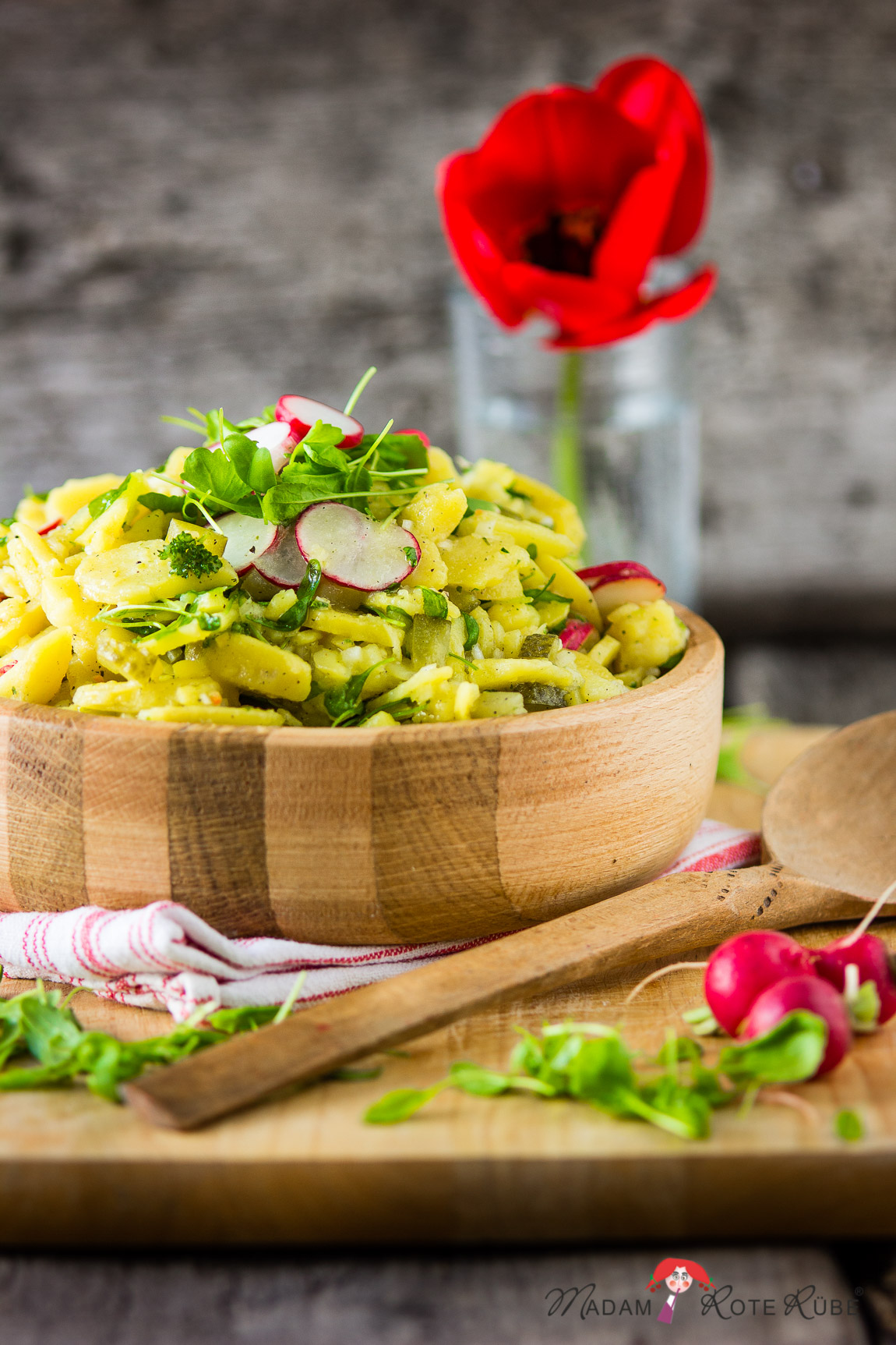 Madam Rote Rübe - Kartoffel-Radieschen-Kresse-Salat