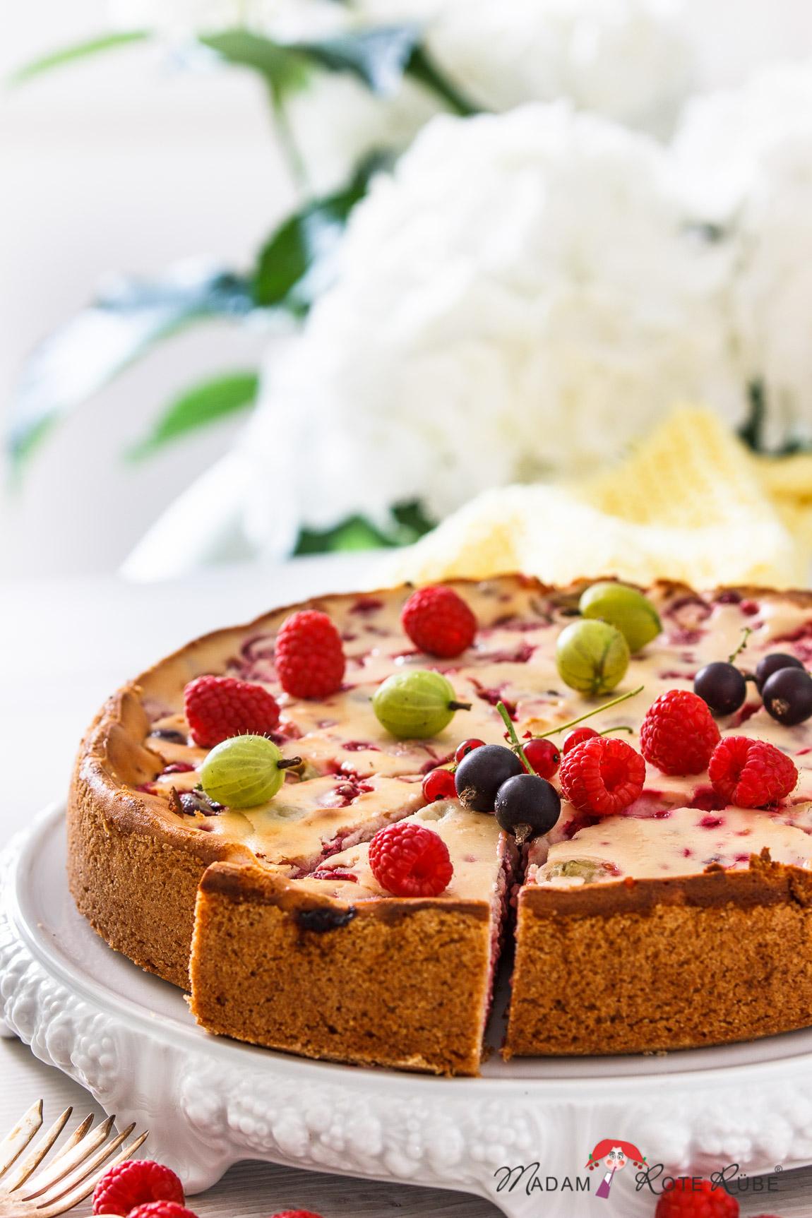 Beeren Kuchen Mit Vanille Quarkcreme 16 4 Madam Rote Rube