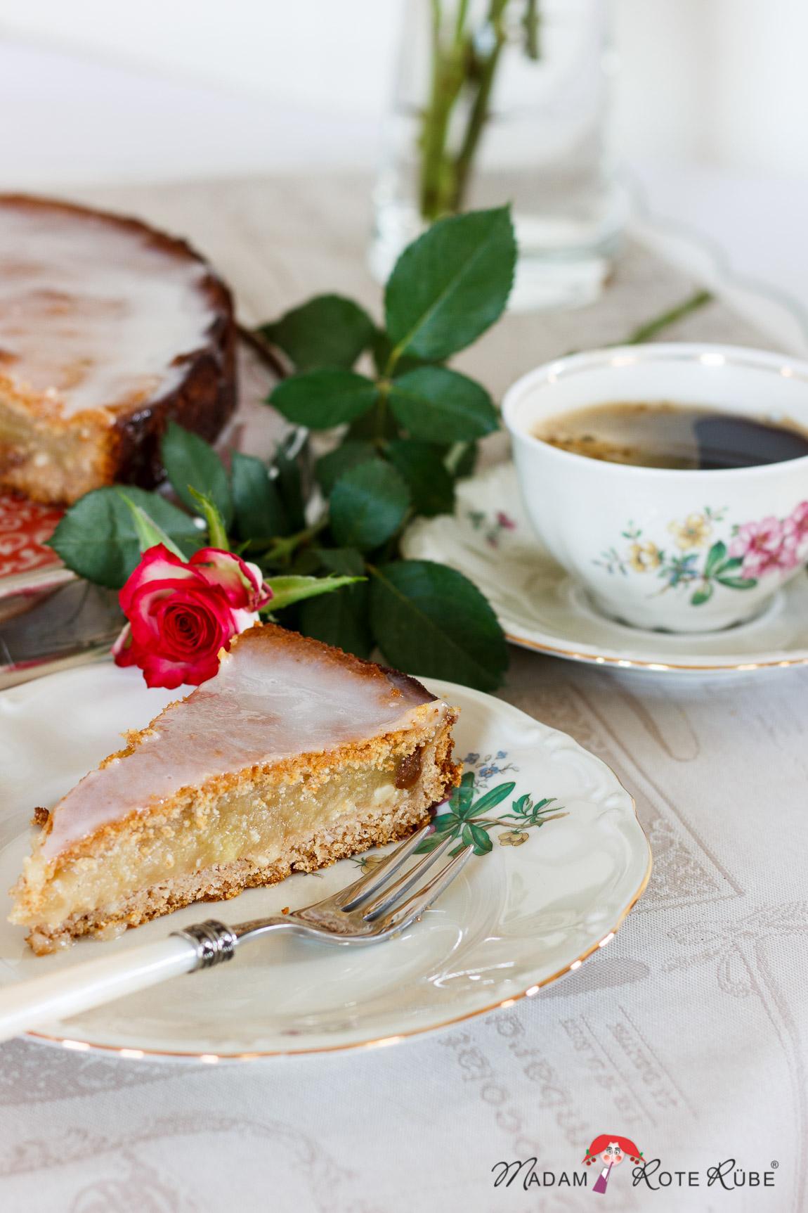 Madam Rote Rübe - Gedeckter Apfelmuskuchen mit Calvados