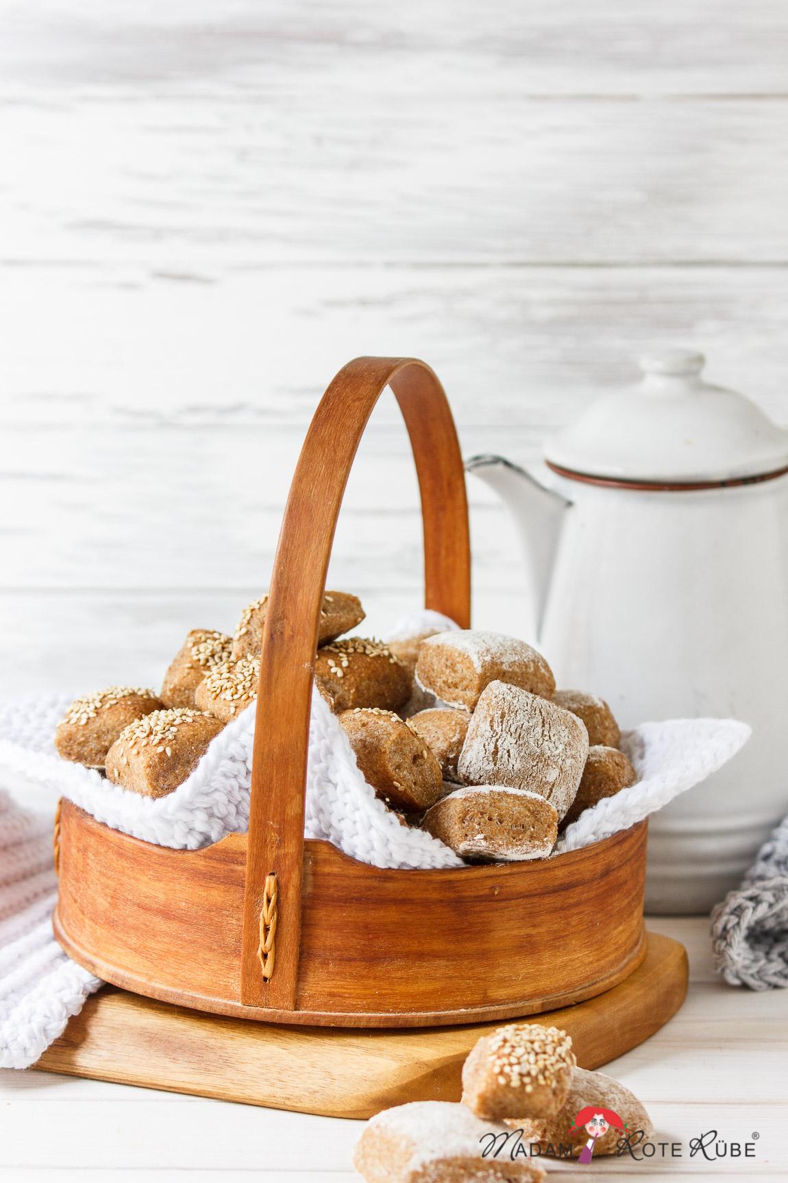 Madam Rote Rübe - Zwergen-Vollkorn-Brötchen - das Brotkonfekt zum Snacken
