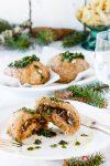 """Rezept herzhafte gedämpfte Hefebrötchen mit Pilzfüllung und eine Buchvorstellung """"Weihnachten vegetarisch"""" von Christina Heß"""