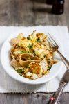 Gerösteter Blumenkohl auf Bandnudeln mit Zitronen-Knoblauch-Butter