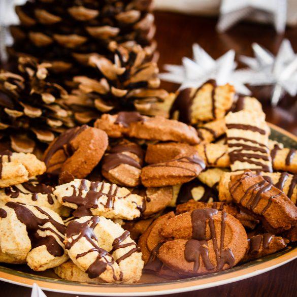 Madam Rote Rübe - Buttriges Orangen-Mandel-Spritzgebäck & Schoko-Spritzgebäck aus der Weihnachtsbäckerei