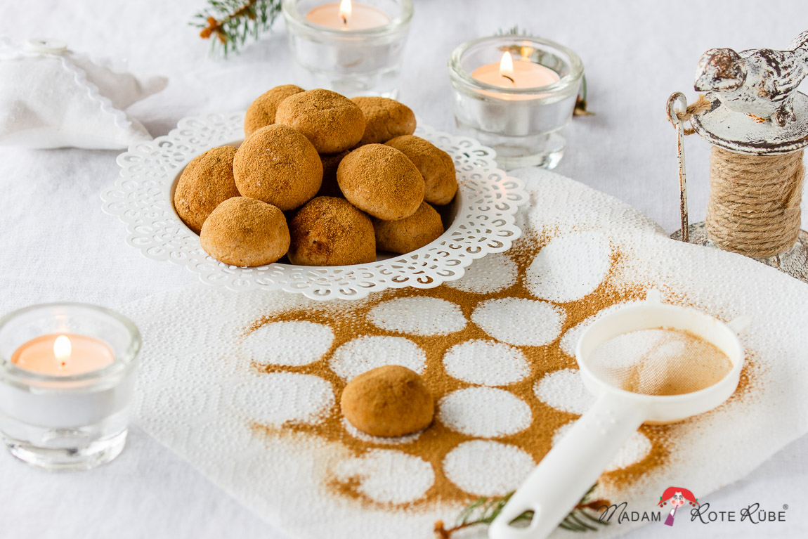 Madam Rote Rübe - gebackene Marzipankartoffeln