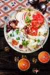 Madam Rote Rübe - Chicorèe-Salat mit Orangen u. Meerrettich-Dressing