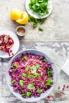 Madam Rote Rübe - Rotkohlsalat mit Bulgur und Tahin-Zitronen-Dressing