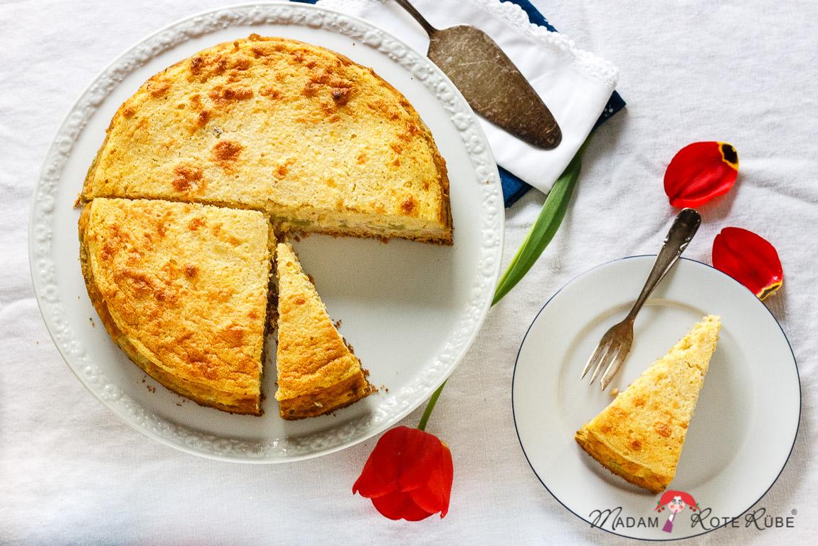 Madam Rote Rübe - Rhabarberkuchen mit Joghurt-Zitronen-Guss