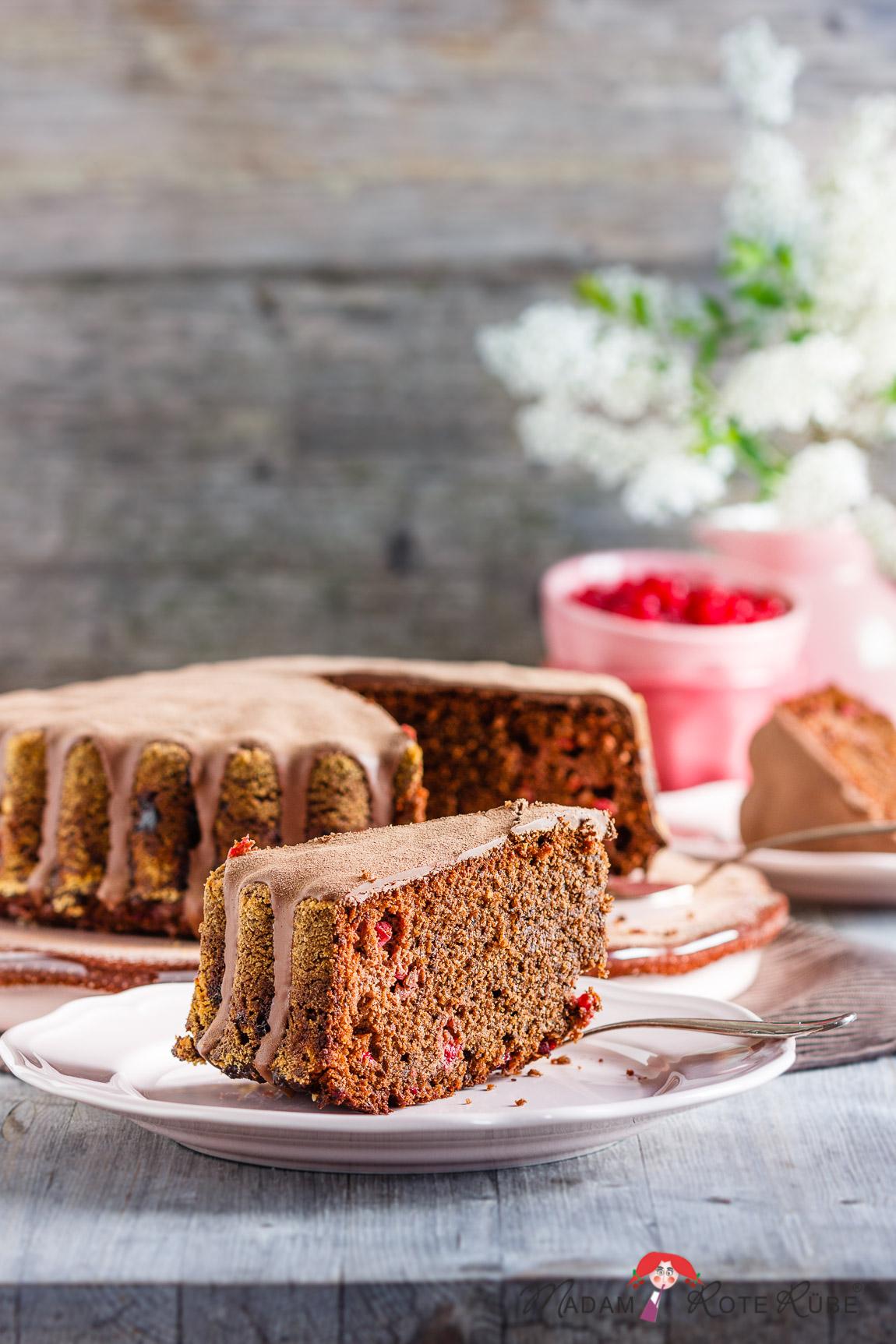 Herrlich Saftiger Schokoladen Johannisbeer Kuchen Madam Rote Rube