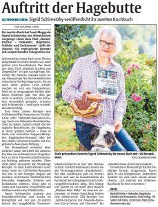 """Presse zu dem Buch """"Herbstfrüchte"""" von Sigrid Schimetzky"""