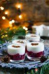 Madam Rote Rübe - Glühweinkirschen mit Vanille-Joghurt und Honigmandeln