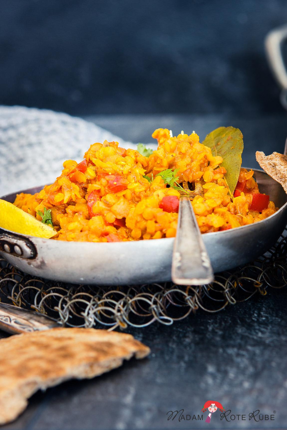 Dal - rotes Linsengericht mit Paprika & Feigen | unkompliziert | schnell | alltagstauglich