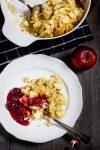 Vollkorn-Reisauflauf mit Apfel und Kompott von Omas Küchentisch
