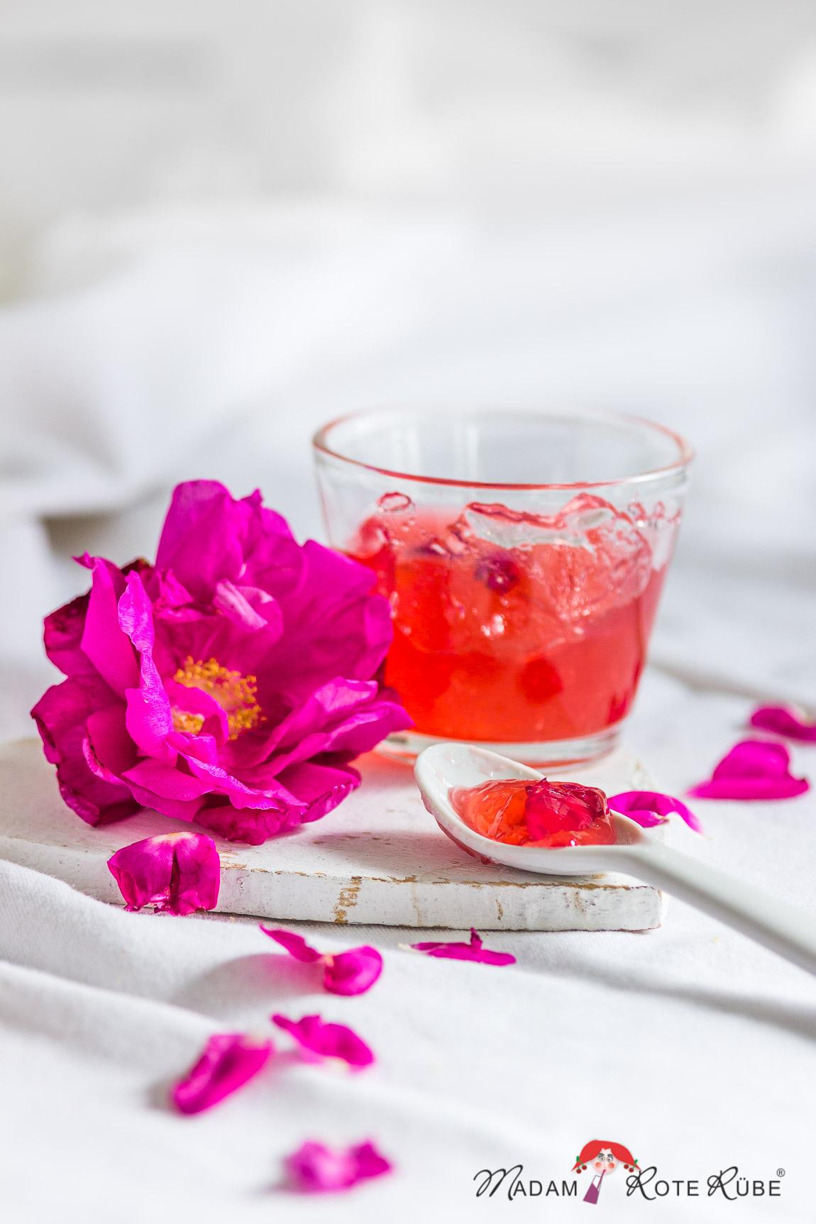 Madam Rote Rübe - Rosengelee mit Sekt