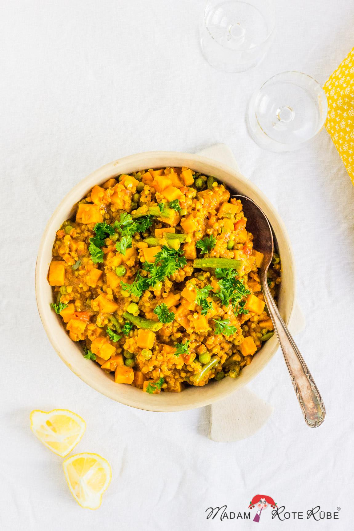 Madam Rote Rübe - Süßkartoffel-Buchweizen-Curry