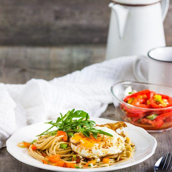 Madam Rote Rübe - Spaghetti mit Spiegelei