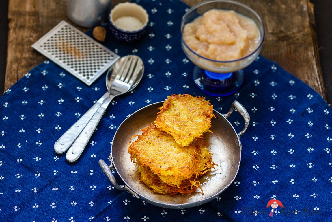 Madam Rote Rübe - Kartoffelpuffer mit Apfelmus