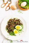 Madam Rote Rübe - Linsen-Kresse-Salat mit Ei