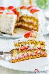 Madam Rote Rübe - Erdbeer-Stracciatella-Torte