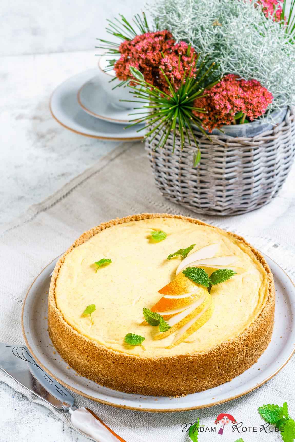 Madam Rote Rübe - Birnen-Schmand-Kuchen mit Dinkelvollkorn