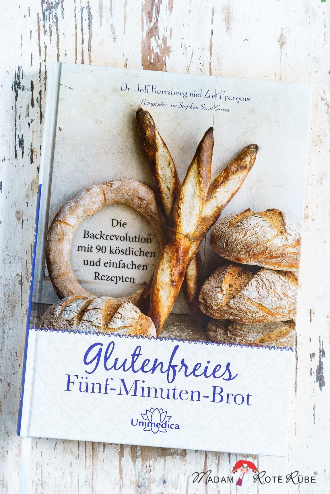 """Madam Rote Rübe - 100-%-Vollkornkörnerbrot & eine Buchvorstellung: """"Glutenfreies Fünf-Minuten-Brot"""" von Dr. J. Hertzberg / Z. Francois"""