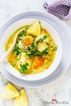 Eier-Curry mit roten Linsen