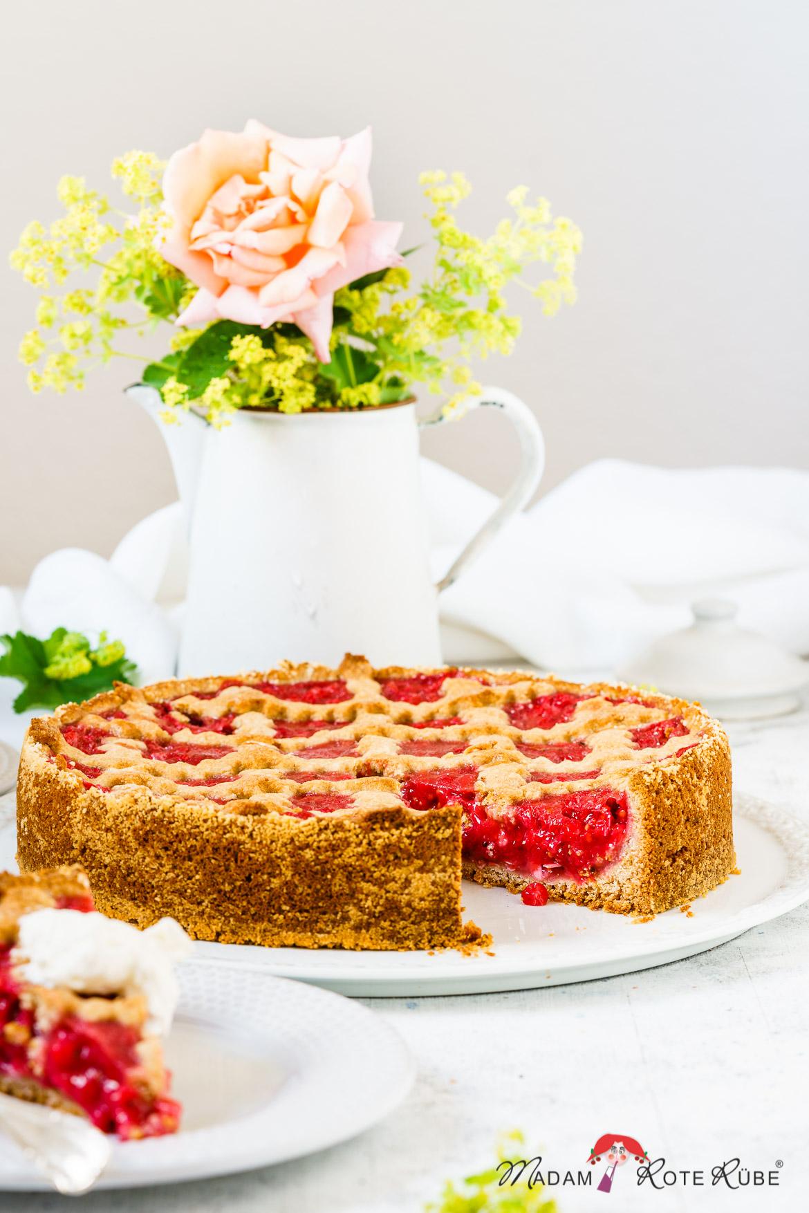 Linzer Johannisbeer-Vollkornkuchen - Madam Rote Rübe