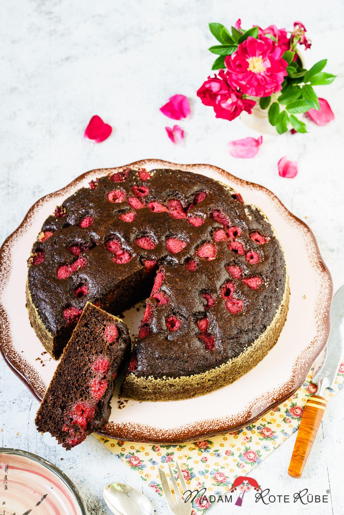 Madam Rote Rübe - Schokoladen-Himbeer-Vollkornkuchen