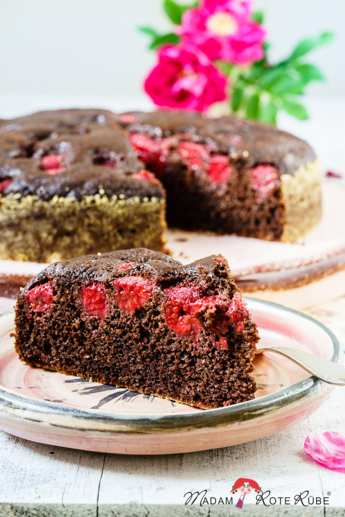 Madam Rote Rübe - Schoko-Himbeer-Vollkornkuchen