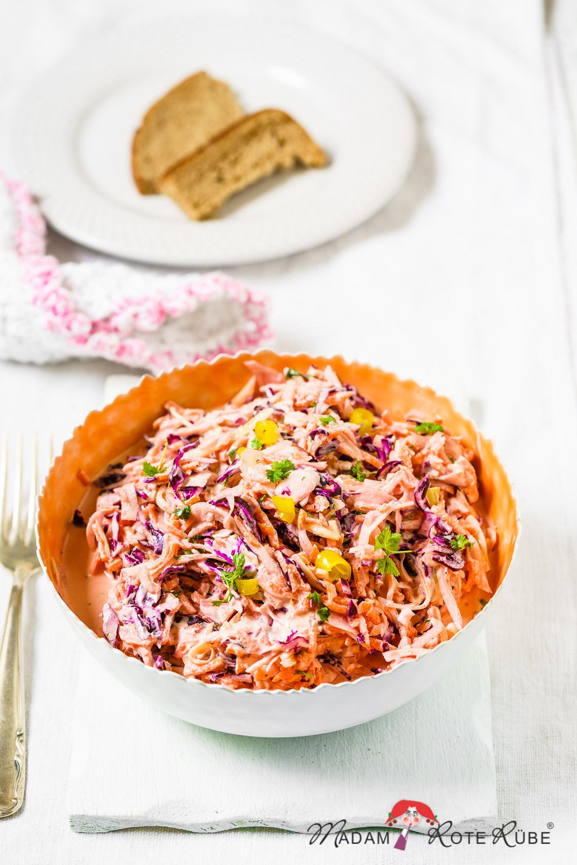 Madam Rote Rübe - Cremig-würziger Krautsalat mit Möhren